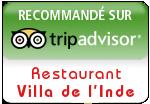 Avis de consommateur Restaurant Villa de l'inde à Vichy