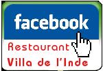 Page Facebook du Restaurant Villa de l'inde à Vichy